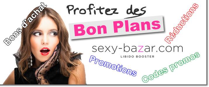 Bons de réduction valables sur sexy-bazar.com