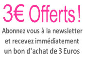 Bon de r�duction 3euros pour inscription � la newsletter